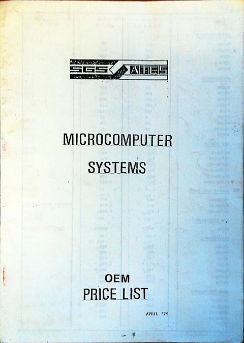 SGS Microcomputer systems oem price list