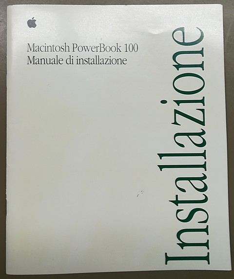Apple macintosh powerbook 100 manuale d'installazione