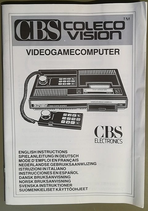 cbs colecovision user guide